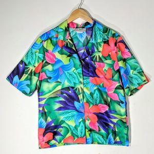 Vintage Tropical Print Shirt